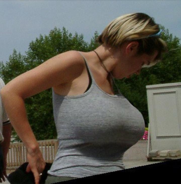 Candid tank big tits top