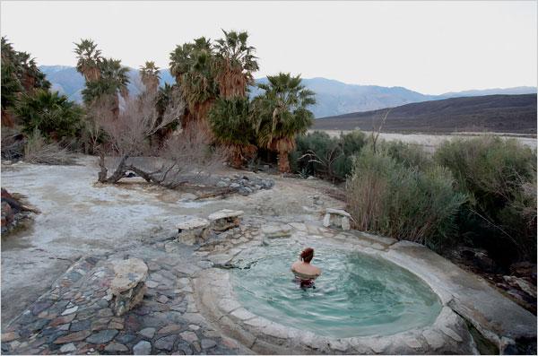 Nackt hot saline valley springs