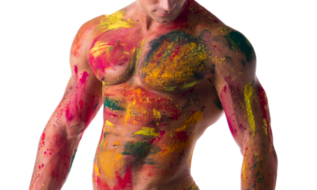 Paint body nude girls beach