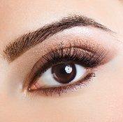 Braune make up einfache augen