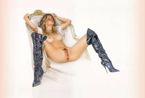 Girls overknees naked sexy in