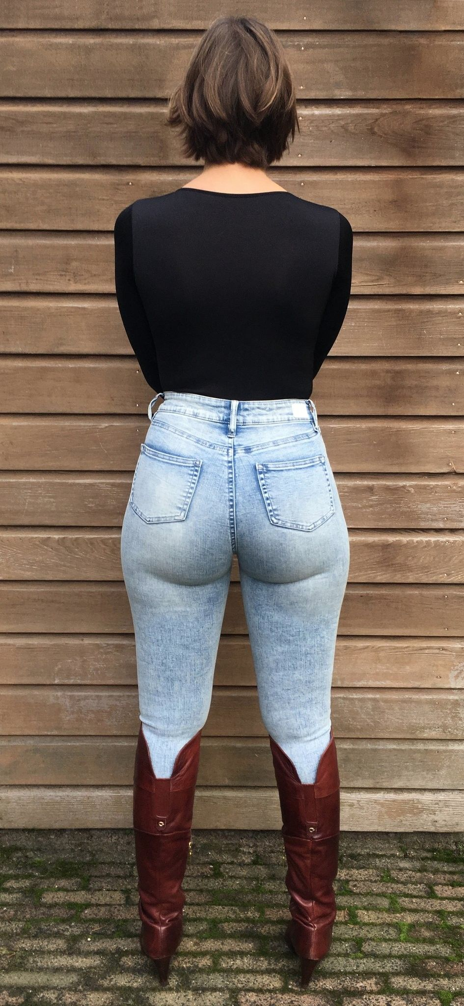 Tight jeans big ass in mom
