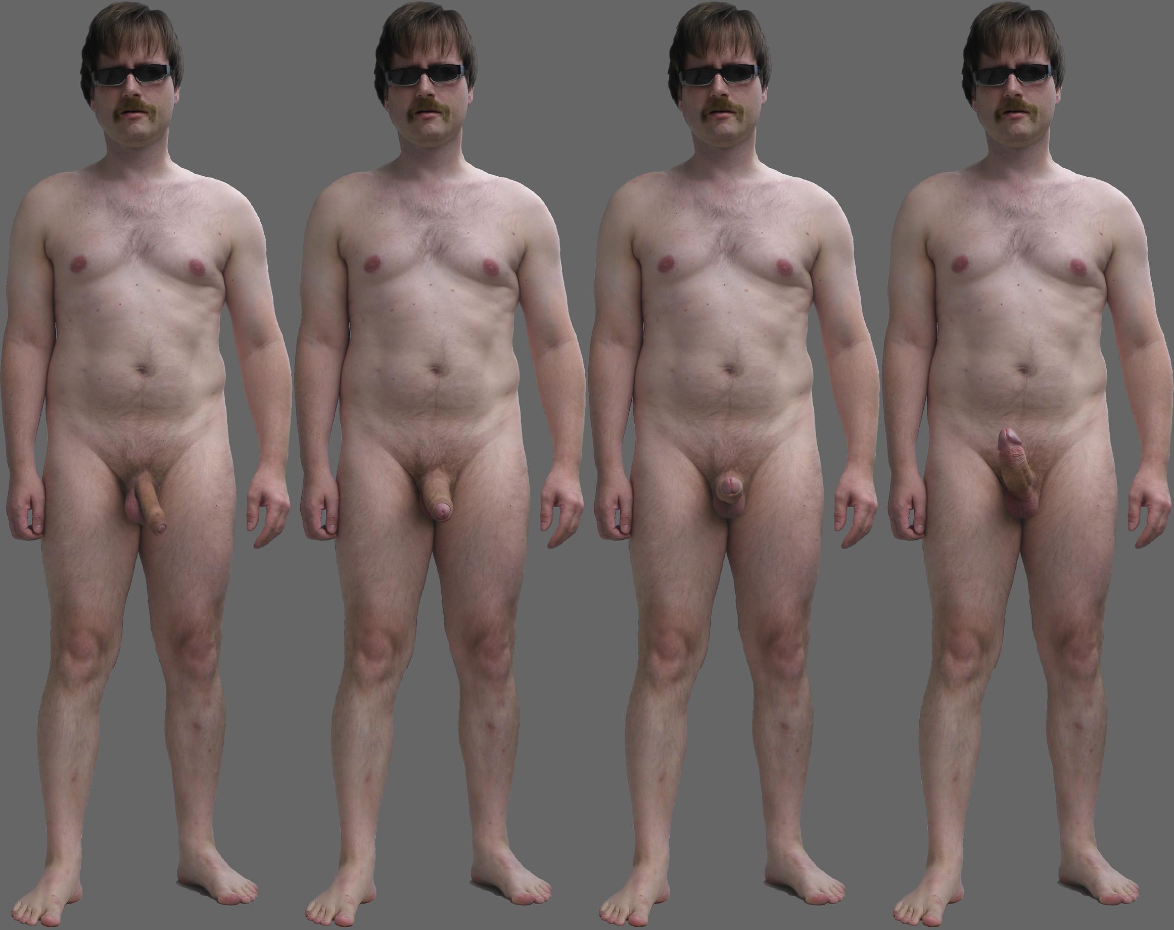 Erektion nude video model male