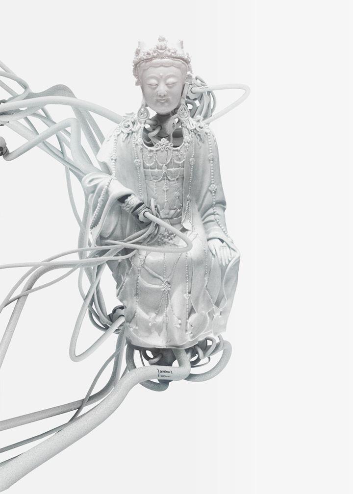 Bondage art amputierten roboter puppe
