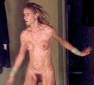 Tank topless teen in gunge