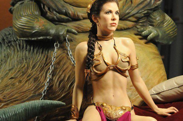 Leia metall bikini prinzessin im