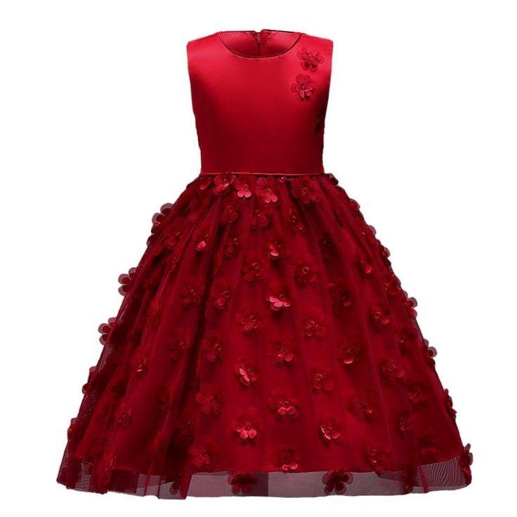 Und weie blumen madchen kleid rote
