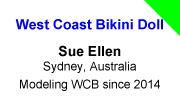 West bikini ellen sue coast