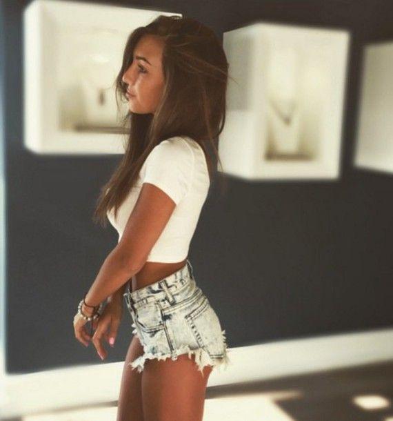 Shorts high tumblr crop tops waisted und