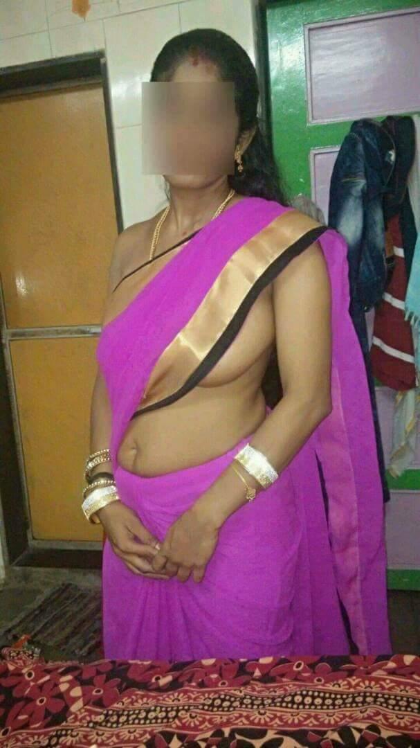 Saree in desi neu verheiratet bhabhi
