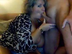 Cum big handjob tits mom