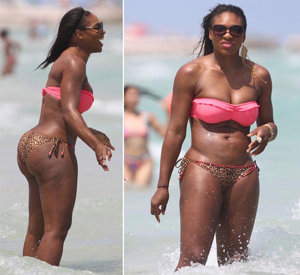 Dicken breiten bikini hintern huften mit