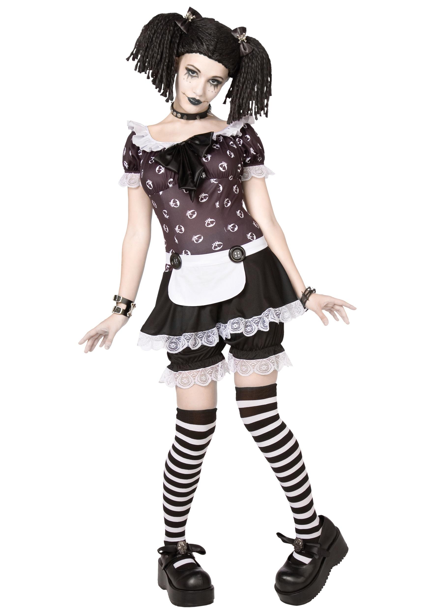 Kostum adult gothic rag doll