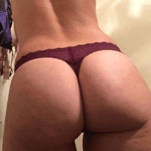 Frauen strapse ass big in