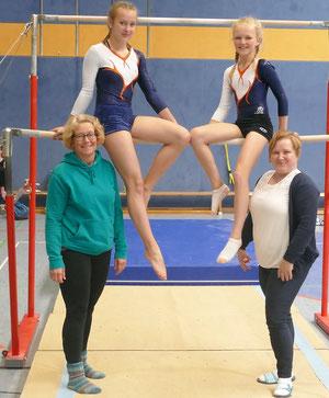 Madchen der offen gymnastik an heie