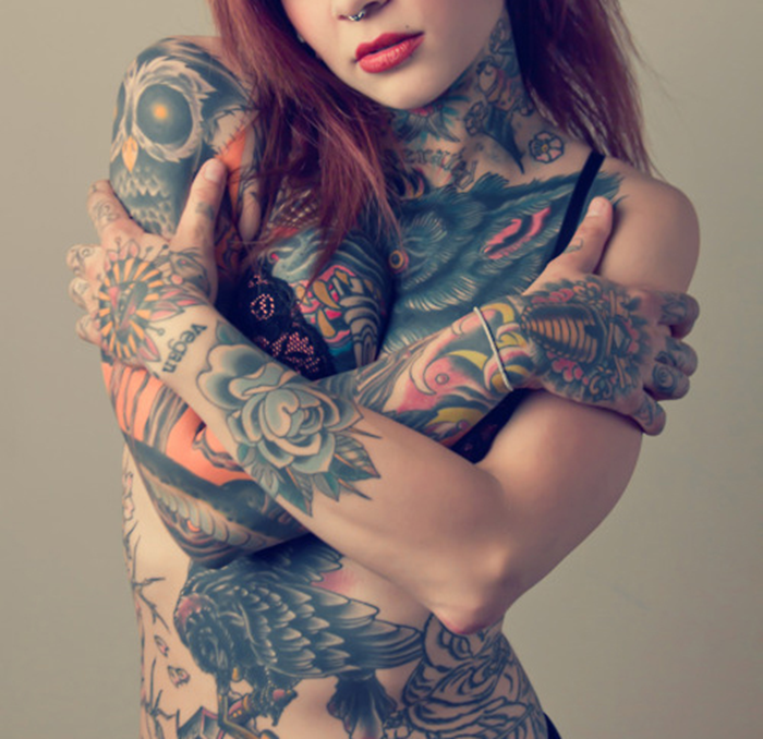 Piercings extreme tattoos nude und